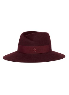 Maison Michel 'Virginie' rabbit furfelt fedora hat
