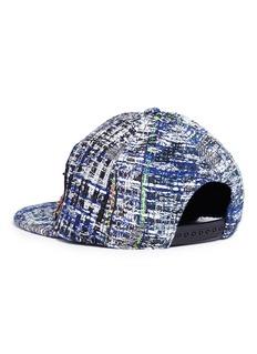 Venna Cartoon patch tweed cap