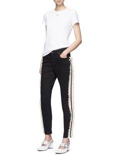Tu Es Mon Trésor Ruffle outseam jeans