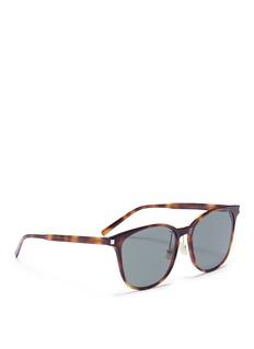 Saint Laurent Tortoiseshell acetate square sunglasses