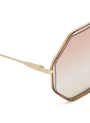 Detail View - Click To Enlarge - Chloé - 'Poppy' metal octagon sunglasses