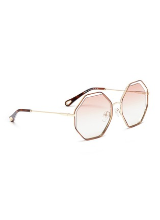 Figure View - Click To Enlarge - Chloé - 'Poppy' metal octagon sunglasses