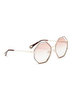 CHLOÉ Poppy悬浮镜片八角金属框太阳眼镜