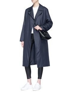 The Row 'Dundi' belted silk satin coat