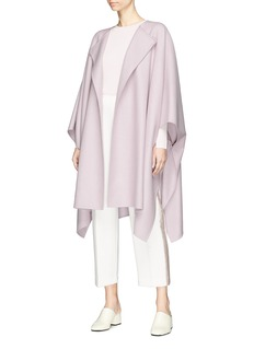 The Row 'Marcella' virgin wool blend melton poncho