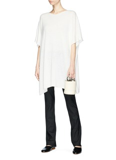 The Row 'Cafty' cashmere-silk knit poncho top