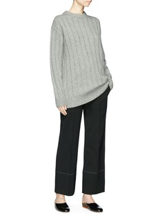 The Row 'Lilla' cashmere rib knit sweater