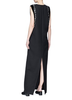 The Row 'Emerette' bugle beaded virgin wool blend maxi dress