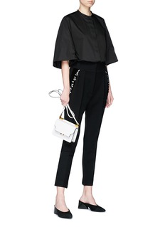 The Row 'Searl' bugle beaded virgin wool cropped suiting pants