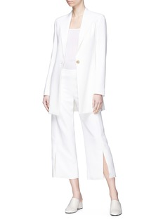 The Row 'Paler' split cuff crepe culottes