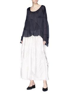 The Row 'Dato' textured silk blend satin midi dress