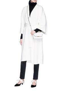 The Row 'Hallia' belted long silk-cotton cardigan