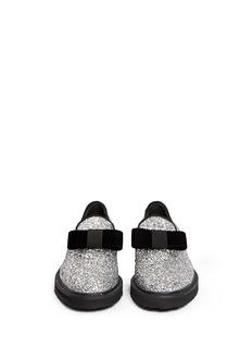 GIUSEPPE ZANOTTI DESIGN'Hilary' velvet bow glitter loafers