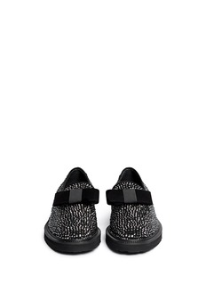 GIUSEPPE ZANOTTI DESIGN'Hilary' velvet bow strass suede loafers