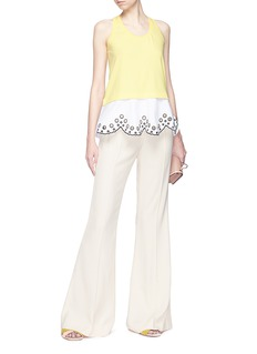 Emilio Pucci Scalloped broderie anglaise hem tank top
