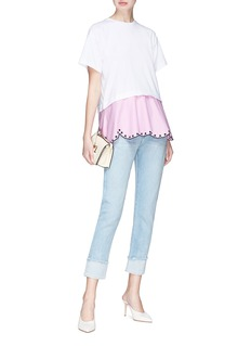 Emilio Pucci Scalloped broderie anglaise hem T-shirt