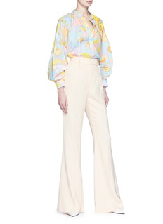 Emilio Pucci Cocoon sleeve pussy bow floral print shirt