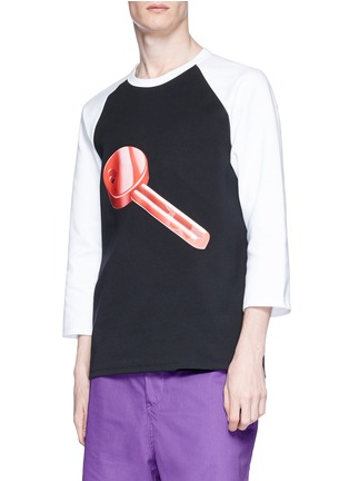 Detail View - Click To Enlarge - Acne Studios - 'Noise' key print unisex long sleeve T-shirt