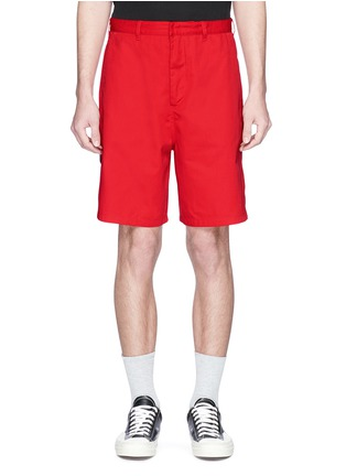Detail View - Click To Enlarge - Acne Studios - 'Port' patch unisex shorts