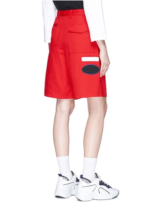 Back View - Click To Enlarge - Acne Studios - 'Port' patch unisex shorts