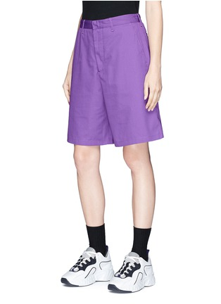 Front View - Click To Enlarge - Acne Studios - 'Port' patch unisex shorts