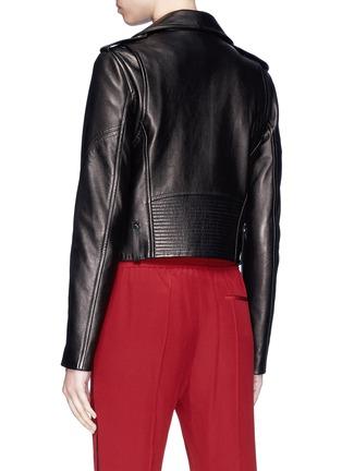 Back View - Click To Enlarge - LOUSY x Lane Crawford - Plonge lambskin leather biker jacket
