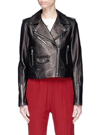 Main View - Click To Enlarge - LOUSY x Lane Crawford - Plonge lambskin leather biker jacket