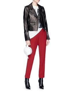 LOUSY x Lane Crawford Plonge lambskin leather biker jacket