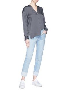 Vince V-neck silk crepe de Chine blouse