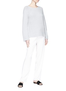 Vince Wool-cashmere rib knit raglan sweater