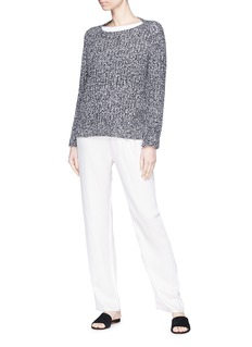 Vince Boat neck wool-cashmere rib knit raglan sweater