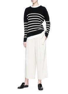 Vince Tie back stripe cashmere sweater