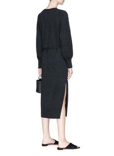 Vince Belted side split wool-cashmere knit dress