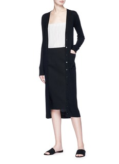 Vince Ponte jersey pencil skirt