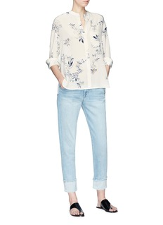 Vince 'Spaced Floral' print silk crepe blouse