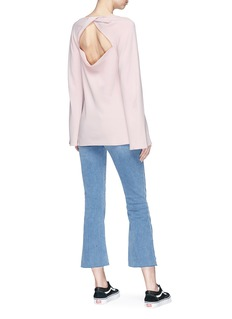 Elizabeth and James 'Daniel' twist cutout back crepe top