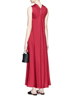 Elizabeth and James 'Cavan' mock twist halterneck satin dress