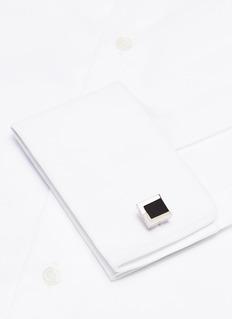 Lanvin Interchangeable rectangle gemstone cufflinks