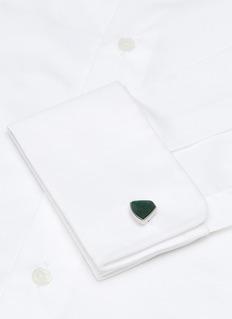 Lanvin Aventurine geometric cufflinks