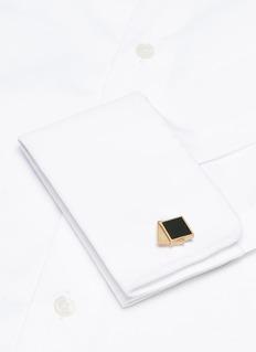 LANVIN 搪瓷点缀搭叠方形袖扣