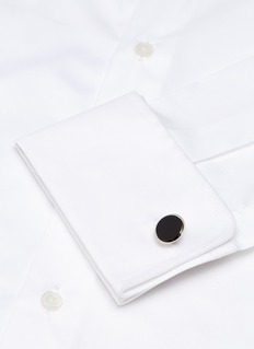 Lanvin Onyx round cufflinks