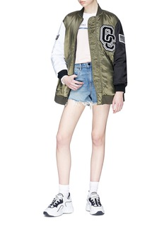 Opening Ceremony Logo patch reversible babydoll bomber jacket
