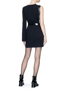 Helmut Lang Single sleeve harness mini suiting dress
