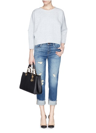 Figure View - Click To Enlarge - Michael Kors - 'Cynthia' medium saffiano leather satchel