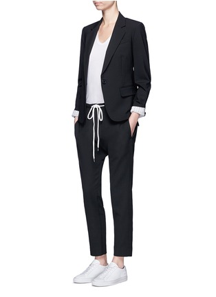 Figure View - Click To Enlarge - Theory - 'Gabe N' single button wool blazer