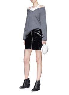 T By Alexander Wang Tank panel Merino wool sweater