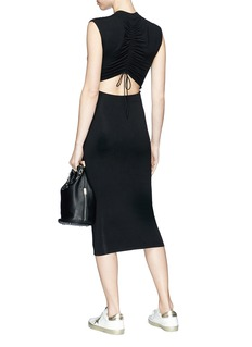 T By Alexander Wang Drawstring cutout back dress