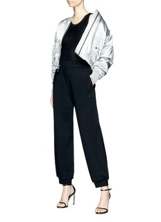 T By Alexander Wang Puffed cropped sweatpants