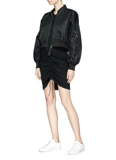 T By Alexander Wang Cropped bomber jacket