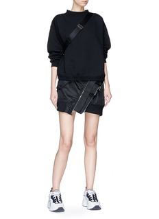 T By Alexander Wang Oversized fleece-lined sweatshirt